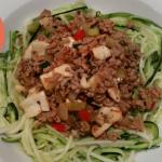 Koolhydraatarme courgetti (courgette spaghetti)