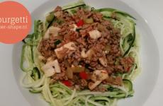 Courgetti, koolhydraatarme spaghetti