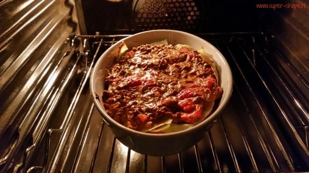 koolhydraatarme lasagne met witte koolbladeren