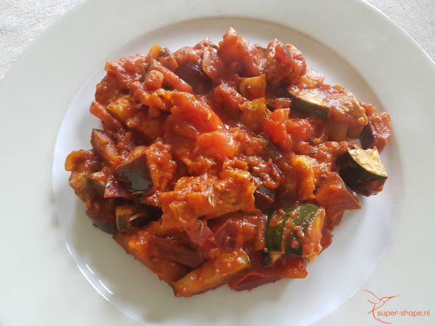 koolhydraatarme recept voor Provençaalse ratatouille