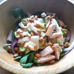 Koolhydraatarme kip courgette salade