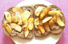 Gezond broodbeleg zoet Gebakken appel