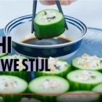 Koolhydraatarme komkommersushi