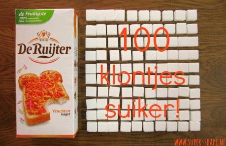 suiker in vruchtenhagelslag