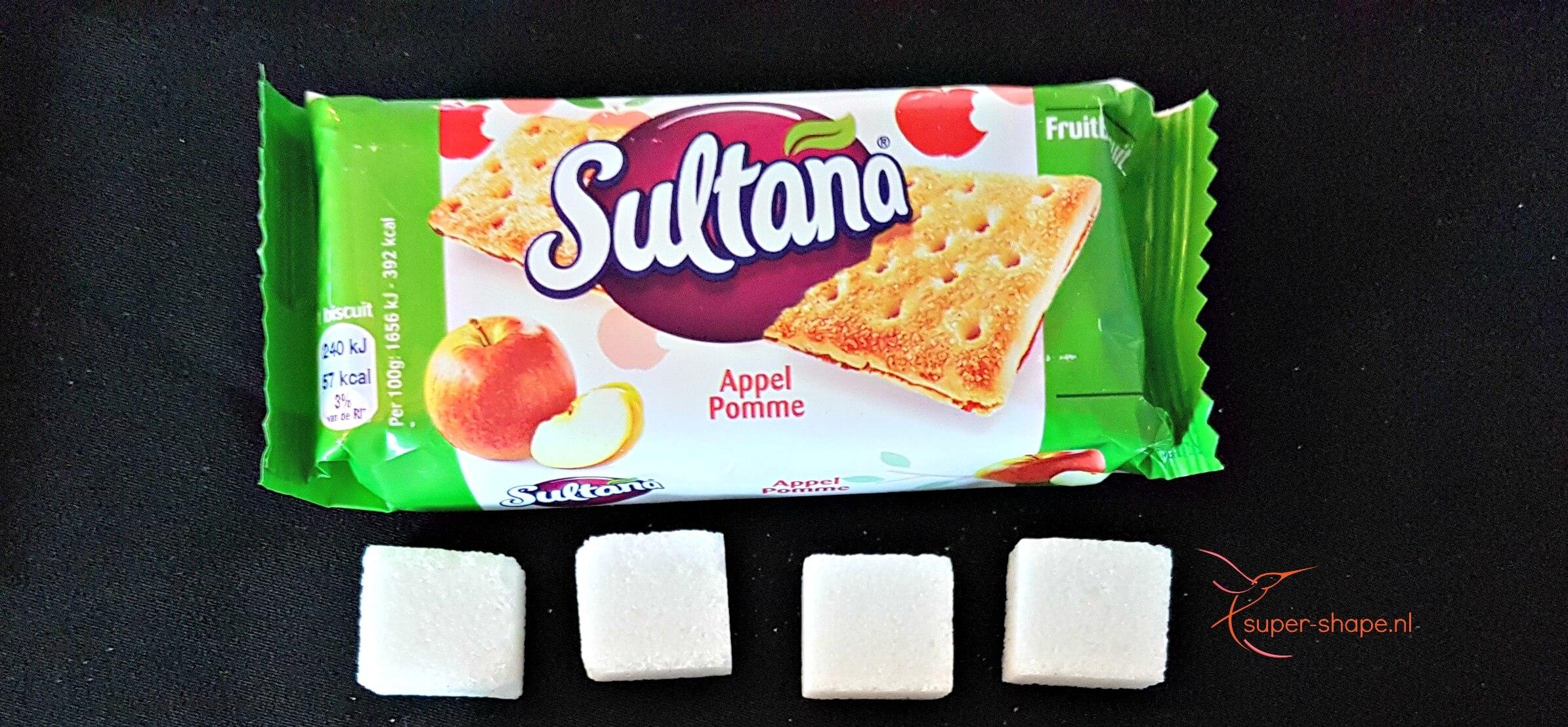 1 pakje Sultana bevat 4 klontjes suiker