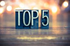 Top 5 favoriete recepten 2019