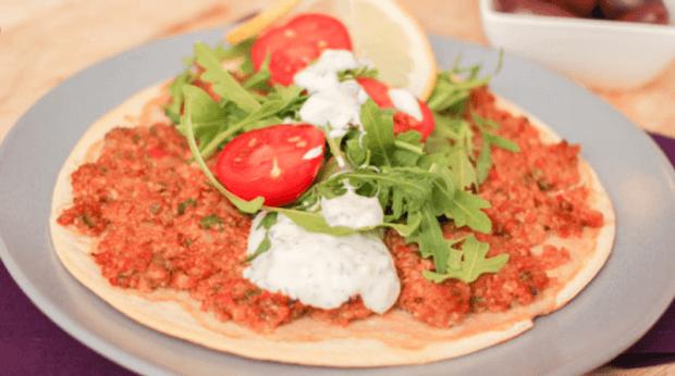 Koolhydraatarme Turkse pizza